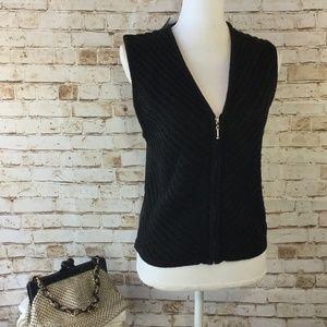 NWT Haley M Sleeveless Linen Blend Sweater Vest